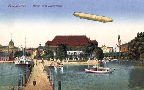 Konstanz, Hafen vom Leuchtturm