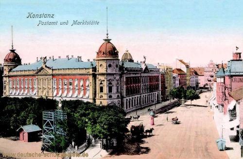 Konstanz, Postamt und Marktstätte