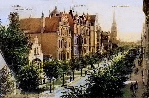 Lehe, Hafenstraße, Die Post, Pauluskirche