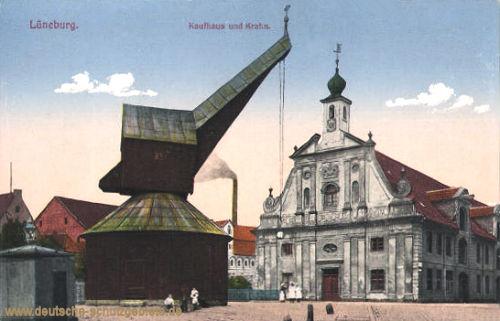 Lüneburg, Kaufhaus und Kran