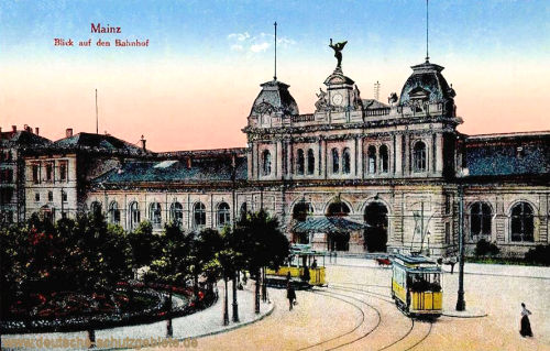 Mainz, Blick auf den Bahnhof