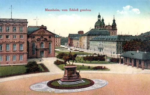Mannheim, vom Schloss gesehen