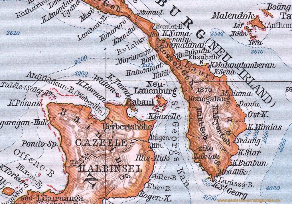 Neumecklenburg-Süd, 1914