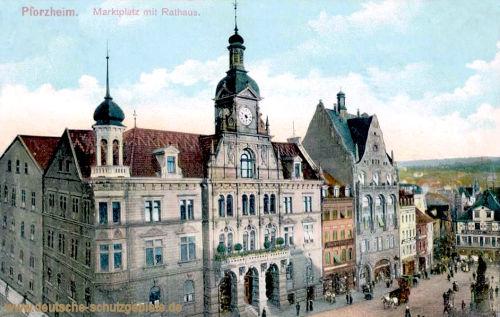 Pforzheim, Marktplatz mit Rathaus