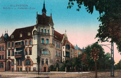 Allenstein, Schiller- und Kaiserstr.-Ecke
