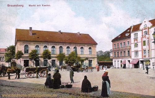 Braunsberg, Markt mit Kasino