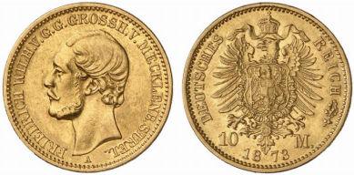 Großherzogtum Mecklenburg-Strelitz 10 Mark, 1873
