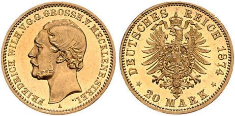 Großherzogtum Mecklenburg-Strelitz 20 Mark, 1874