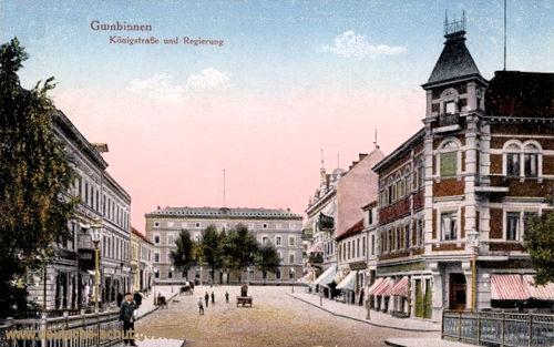 Gumbinnen, Königstraße und Regierung