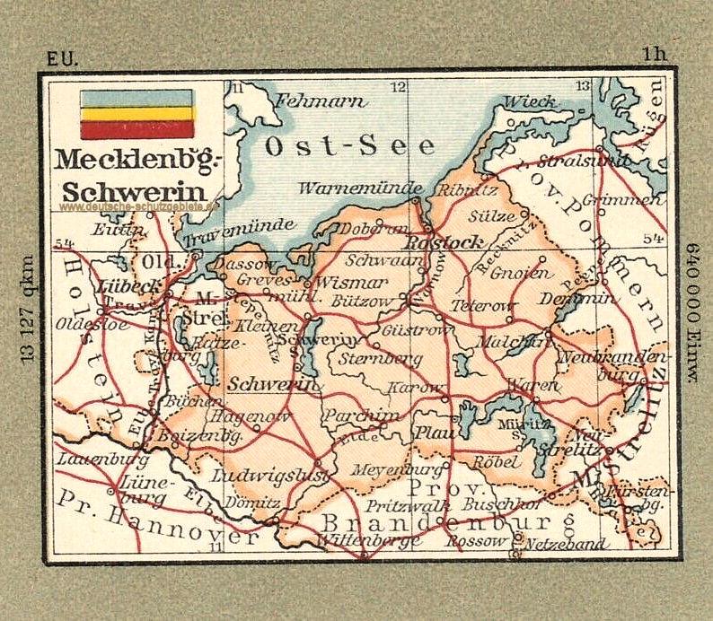 Mecklenburg-Schwerin, Landkarte