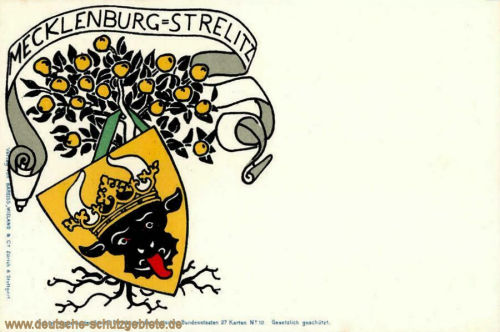 Mecklenburg-Strelitz, Wappenkarte