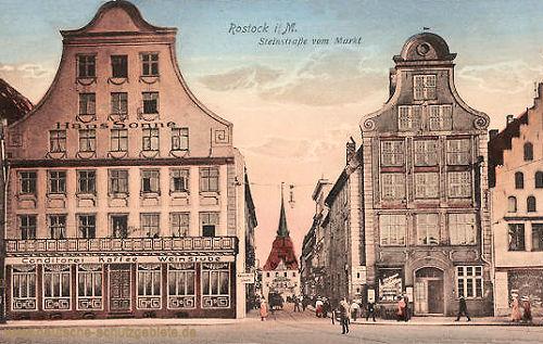 Rostock, Steinstraße vom Markt