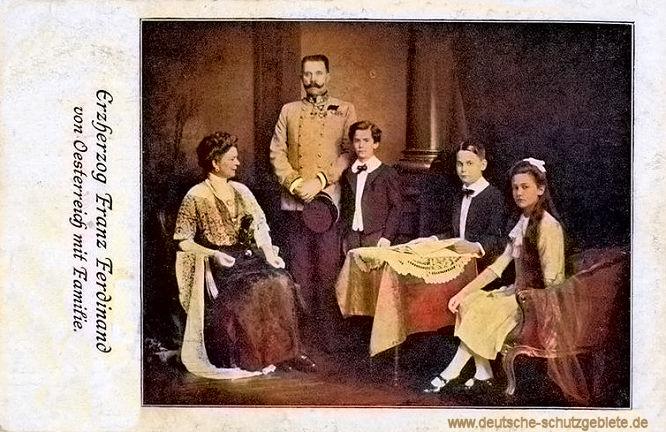 Erzherzog Franz Ferdinand von Österreich mit Familie
