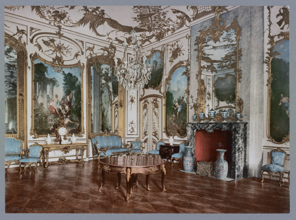 Potsdam. Schloss Sans-Souci Musikzimmer