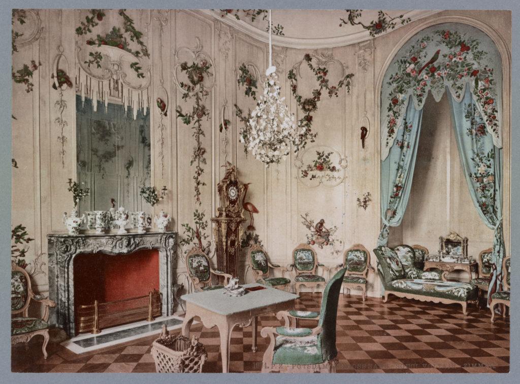 Potsdam. Schloss Sans-Souci Voltaire-Zimmer