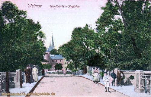 Weimar, Kegelbrücke und Kegelthor
