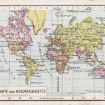 Weltkarte und Kolonialbesitz (1912)