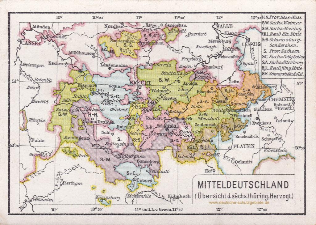 Mitteldeutschland (Thüringen 1912)