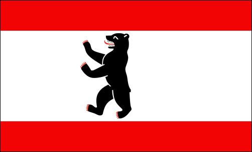 Berlin, Flagge seit 1912 (mit geringfügigen stilistischen Änderungen)