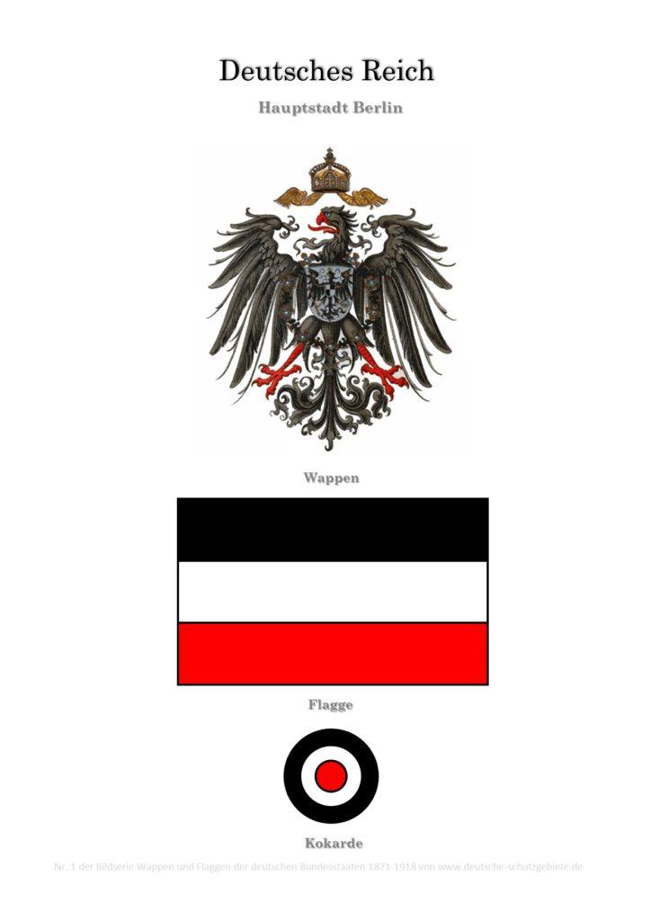 Deutsches Reich, Wappen, Flagge und Kokarde