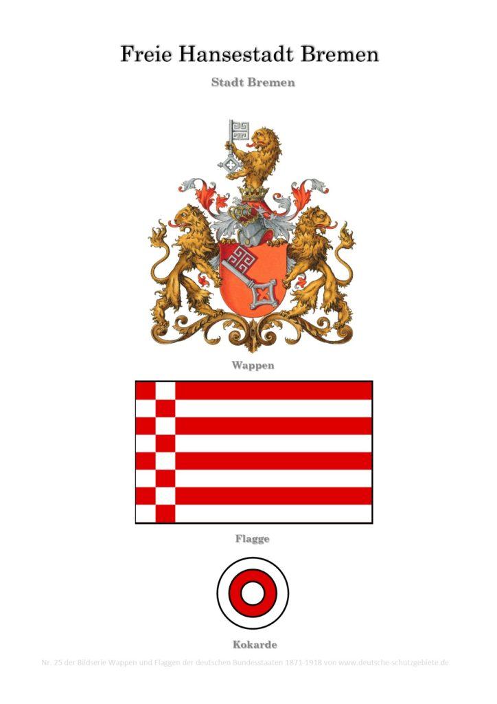 Freie Hansestadt Bremen, Wappen, Flagge und Kokarde
