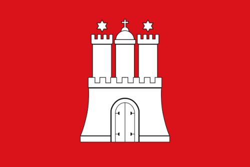 Freie und Hansestadt Hamburg, Flagge