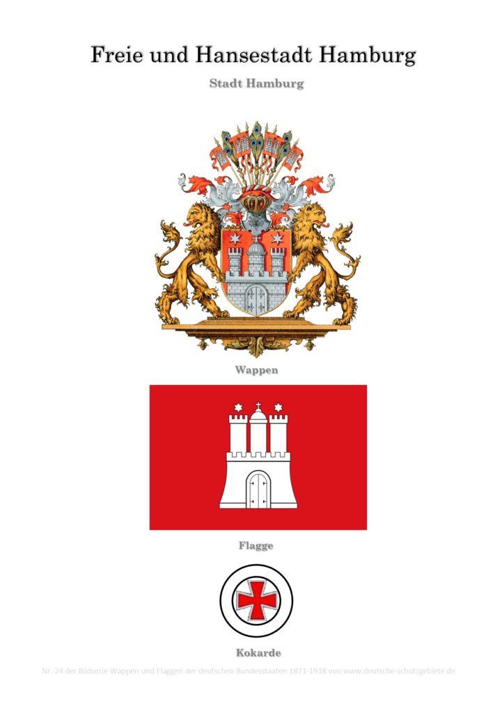 Freie und Hansestadt Hamburg, Wappen, Flagge und Kokarde