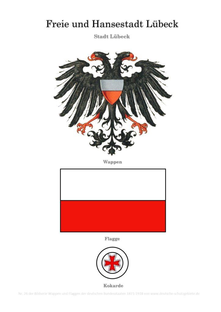 Freie und Hansestadt Lübeck, Wappen, Flagge und Kokarde