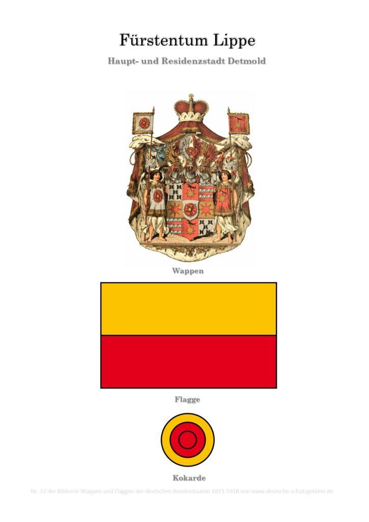 Fürstentum Lippe, Wappen, Flagge und Kokarde