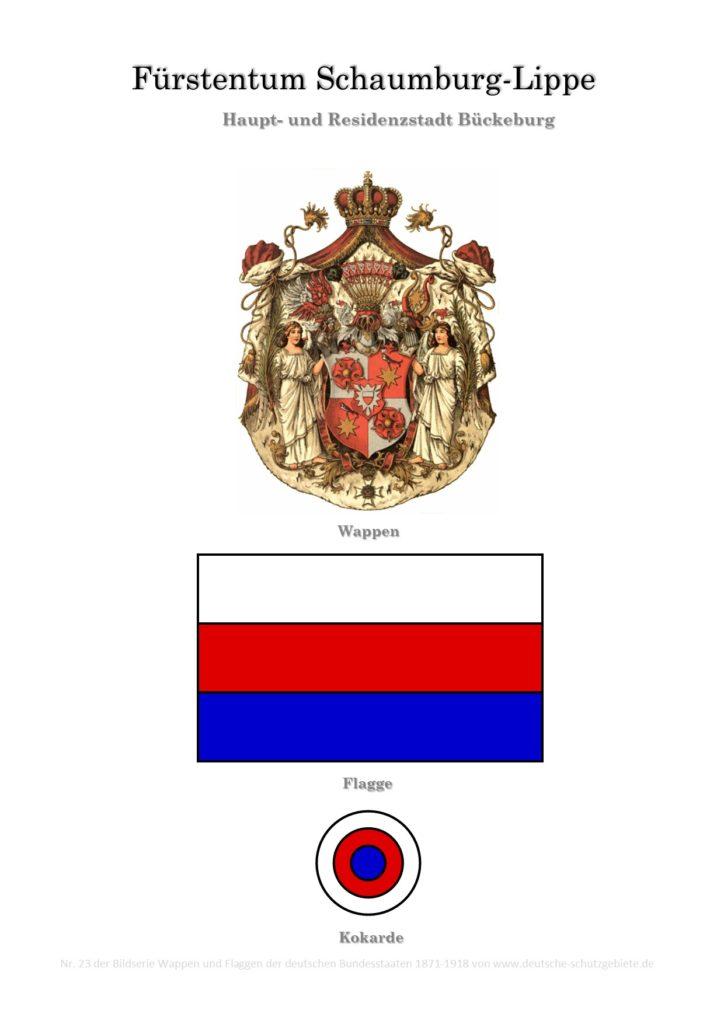 Fürstentum Schaumburg-Lippe, Wappen, Flagge und Kokarde