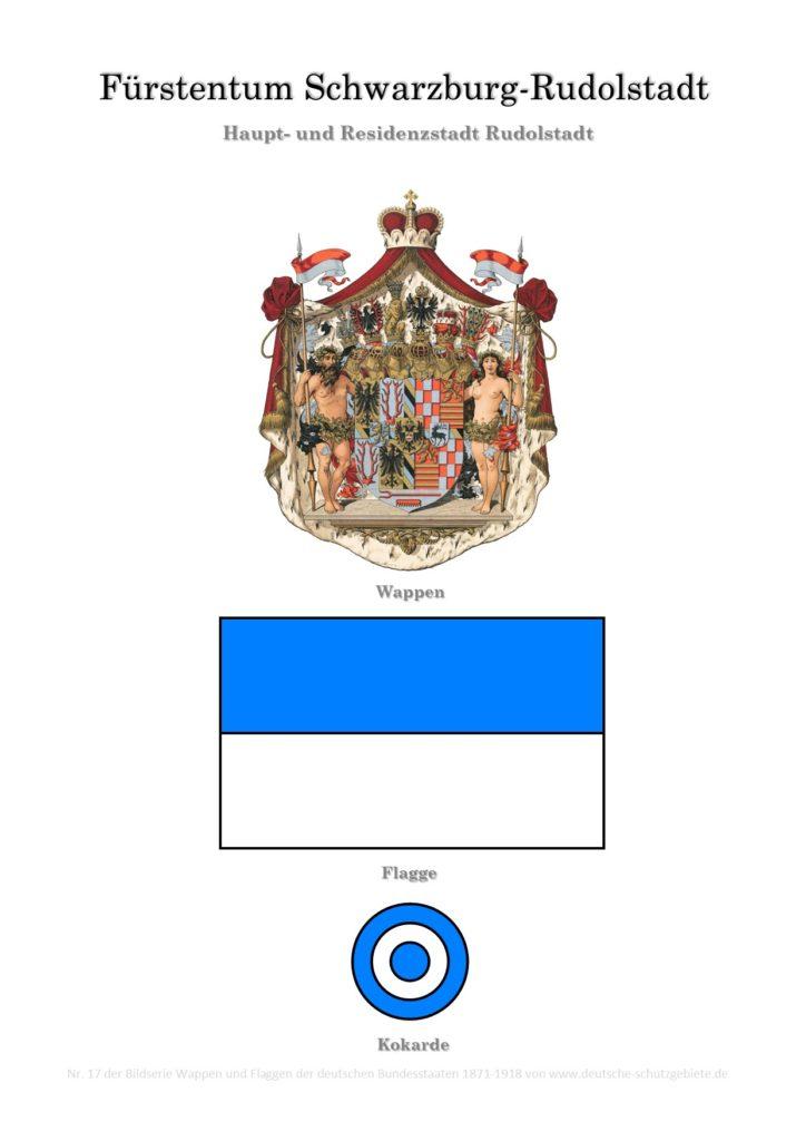 Fürstentum Schwarzburg-Rudolstadt, Wappen, Flagge und Kokarde