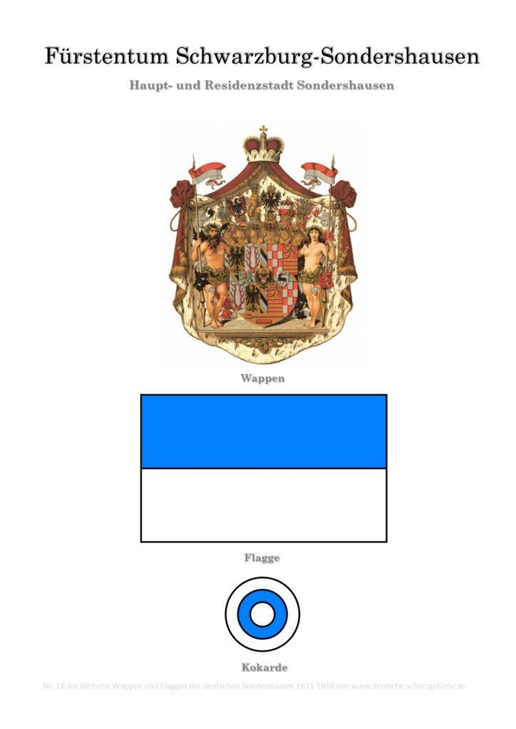 Fürstentum Schwarzburg-Sondershausen, Wappen, Flagge und Kokarde