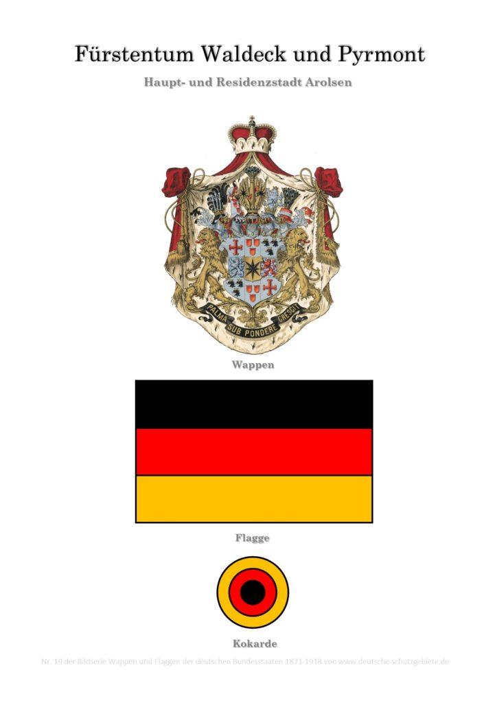 Fürstentum Waldeck und Pyrmont, Wappen, Flagge und Kokarde