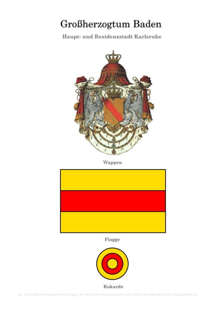 Großherzogtum Baden, Wappen, Flagge und Kokarde