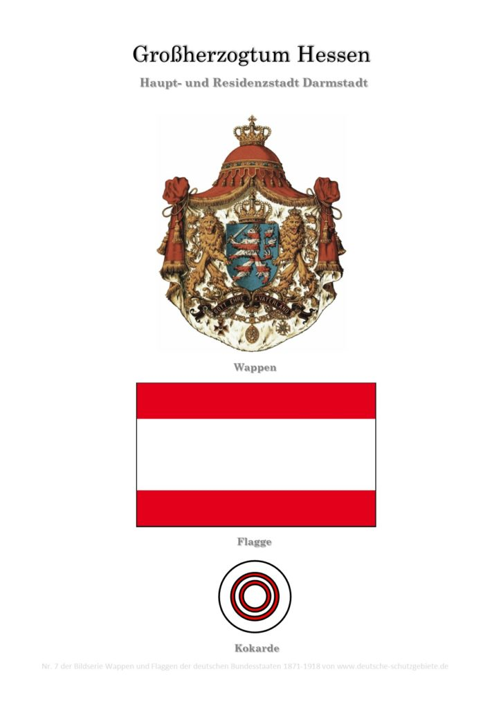 Großherzogtum Hessen, Wappen, Flagge und Kokarde