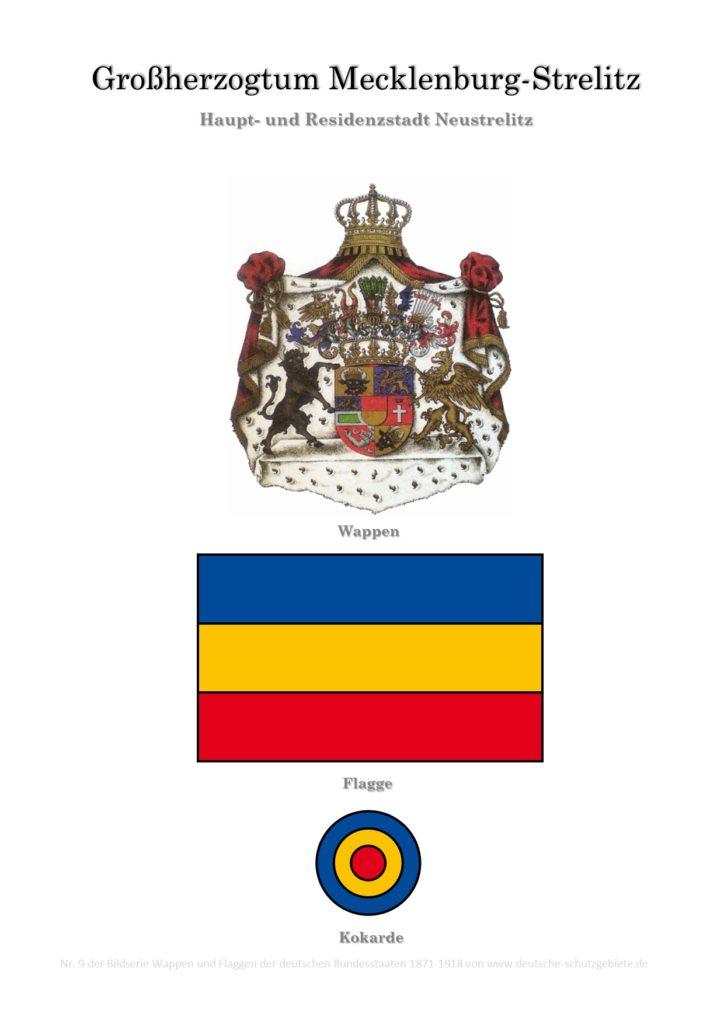 Großherzogtum Mecklenburg-Strelitz, Wappen, Flagge und Kokarde