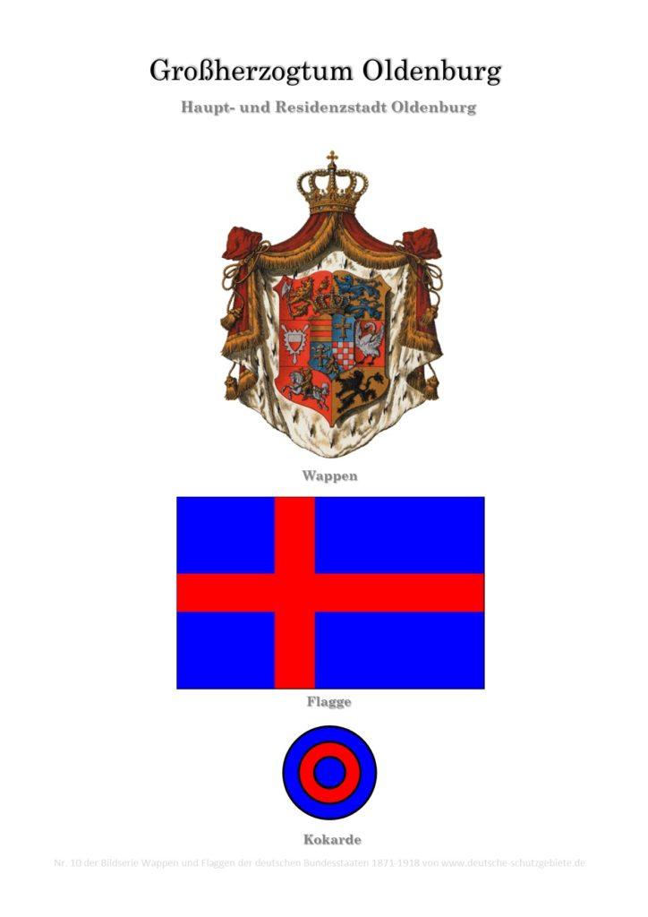 Großherzogtum Oldenburg, Wappen, Flagge und Kokarde