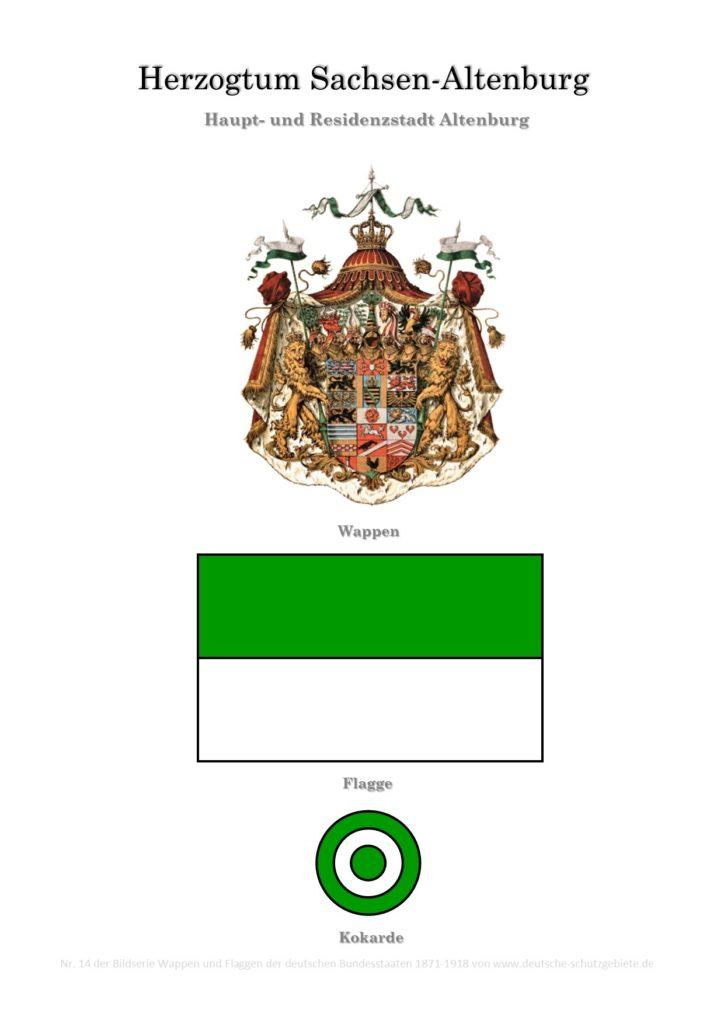 Herzogtum Sachsen-Altenburg, Wappen, Flagge und Kokarde