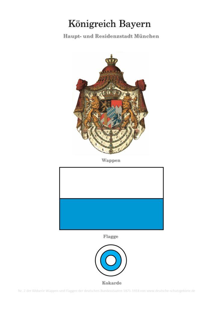Königreich Bayern, Wappen, Flagge und Kokarde