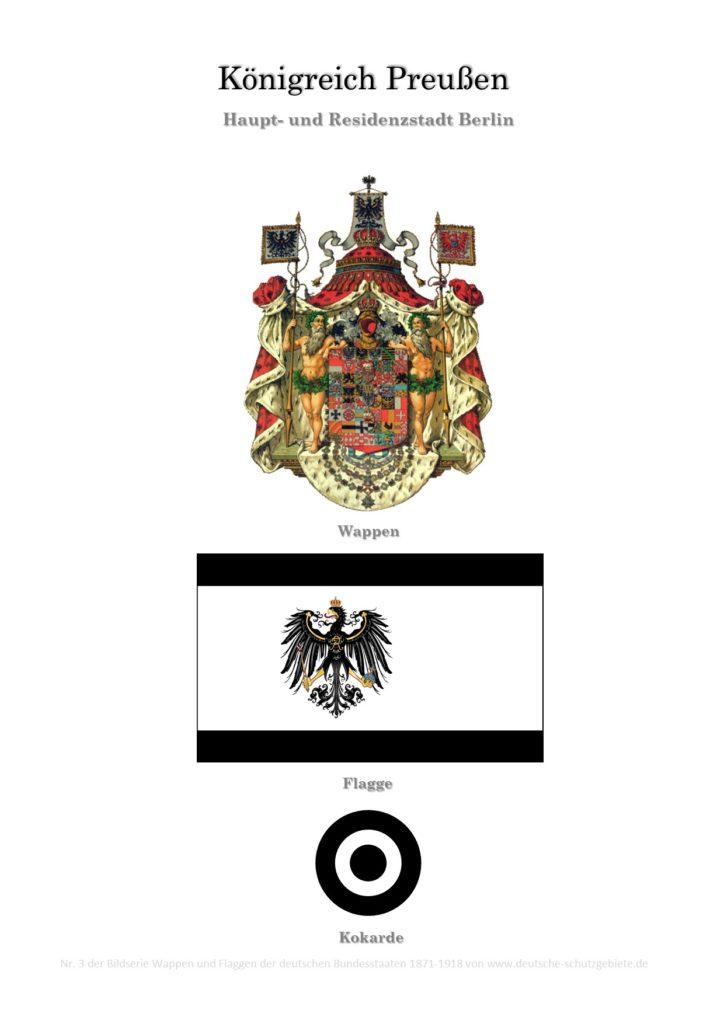 Königreich Preußen, Wappen, Flagge und Kokarde