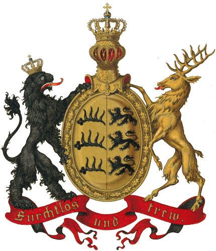 Königreich Württemberg, Grösseres Staatswappen