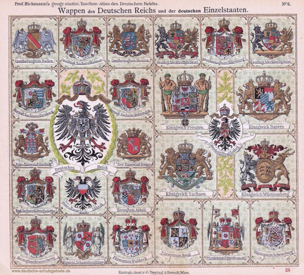 Wappen des Deutschen Reichs und der deutschen Einzelstaaten