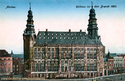 Aachen, Rathaus vor dem Brande 1883