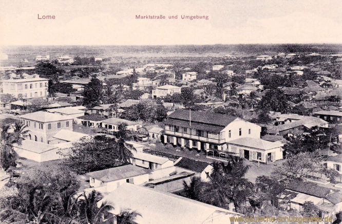 Lome, Marktstraße und Umgebung