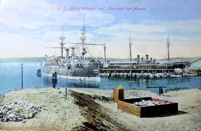 S.M.S. König Wilhelm und Charlotte vor Mürwik