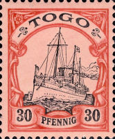 Togo Nr. 12, 30 Pfennig