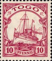 Togo Nr. 22, 10 Pfennig