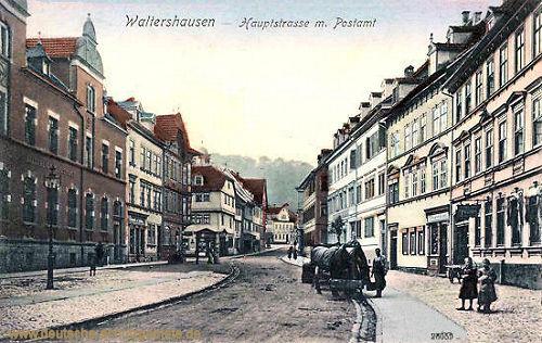 Walterhausen, Hauptstraße mit Postamt