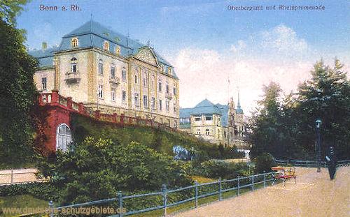 Bonn am Rhein, Oberbergamt und Rheinpromenade