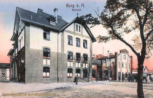 Burg b. M., Bahnhof